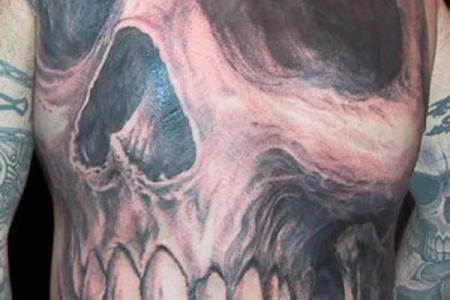 44 skull tattoo
