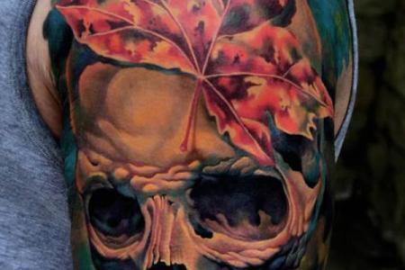 51 skull tattoo