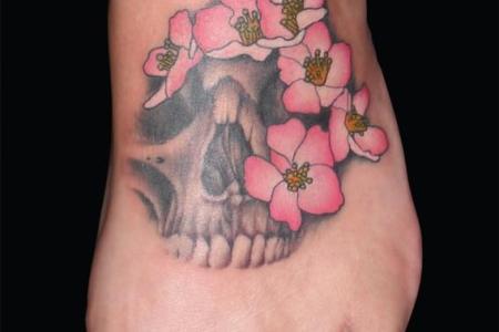 6 skull tattoo foot 567 775