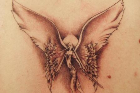 angel woman tattoo