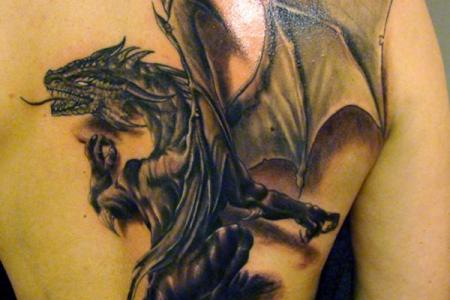 2 dragon tattoo by jrunin