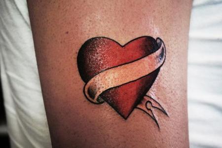 2 heart tattoo