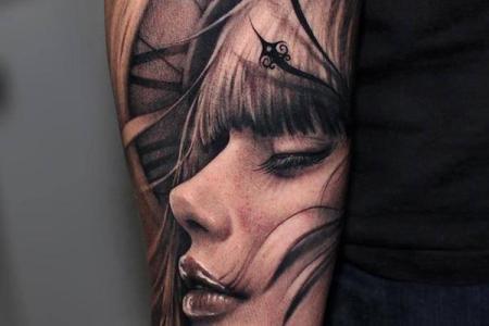 54 3d portrait tattoo