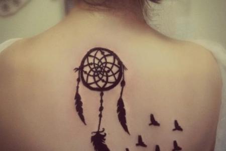 25 dreamcatcher tattoo back