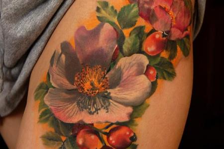 25 flower tattoo