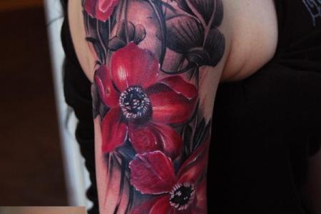 4 flower tattoo1