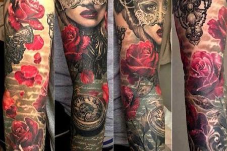 50 full sleeve tattoo