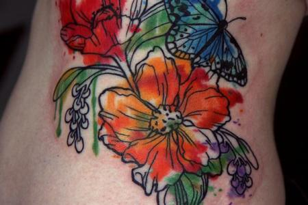 6 flower tattoo1