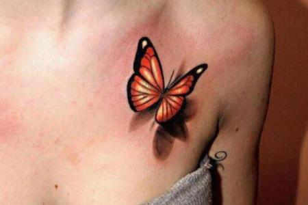 15 3d erfly chest tattoo