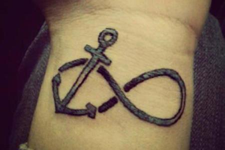 1 anchor infinity tattoo