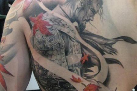 23 anese warrior tattoo