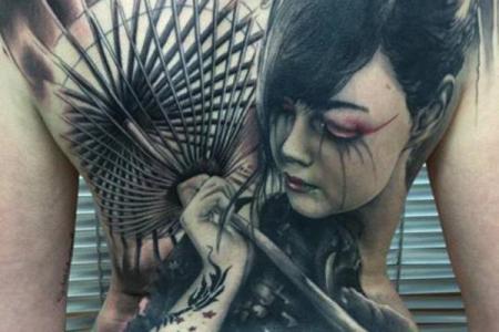 27 anese geisha tattoo full back