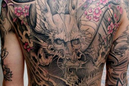 30 anese dragon tattoo on back