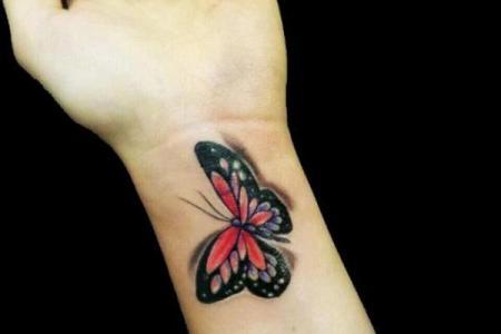 43 wrist erfly tattoo
