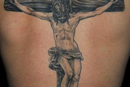 1 jesus chirst cross tattoo