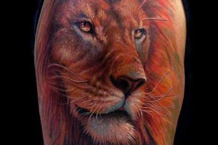 18 lion tattoo