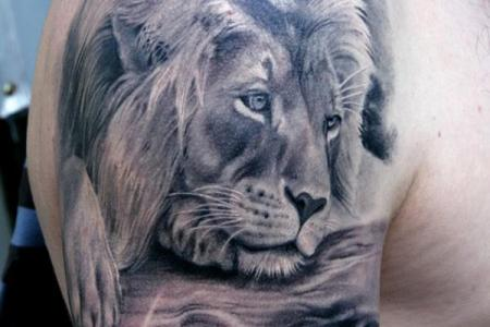 39 lion tattoo