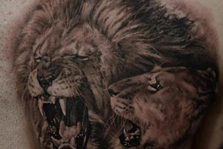 7 lion tattoo