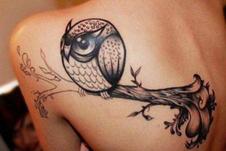 20 cute owl tattoo for back shoulder1