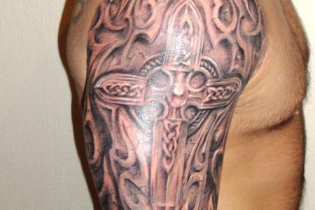 23 tribal celtic cross tattoo