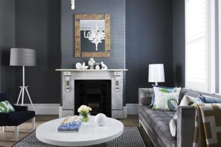 living room paint ideas 10 grey and blue details