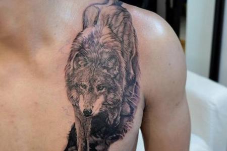30 wolf tattoo