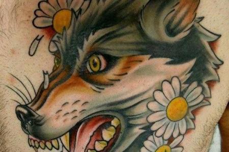 35 wolf tattoo