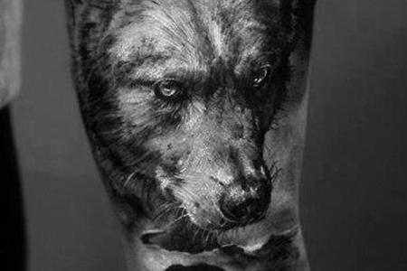 4 3d wolf tattoo