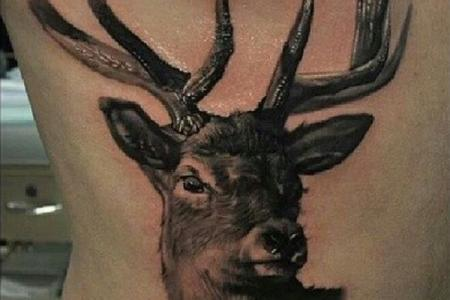42 3d deer tattoo