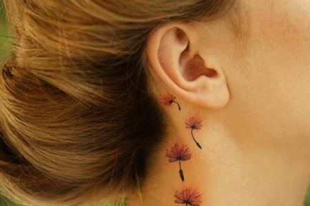 3 dandelion tattoos