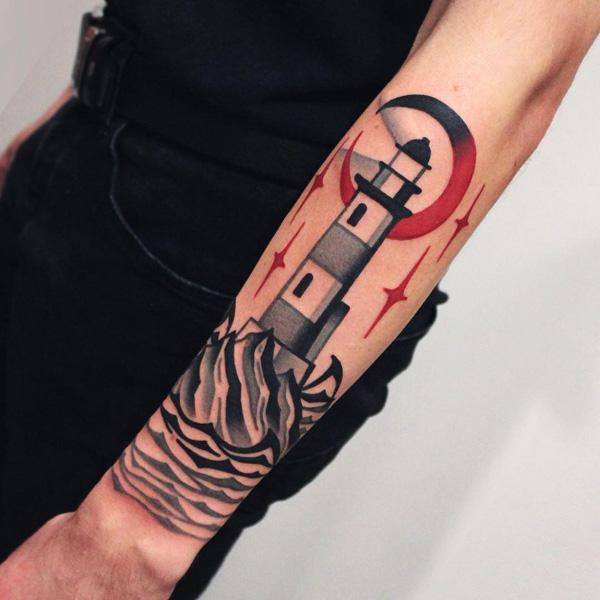 30+ Lighthouse Tattoo Ideas of 21