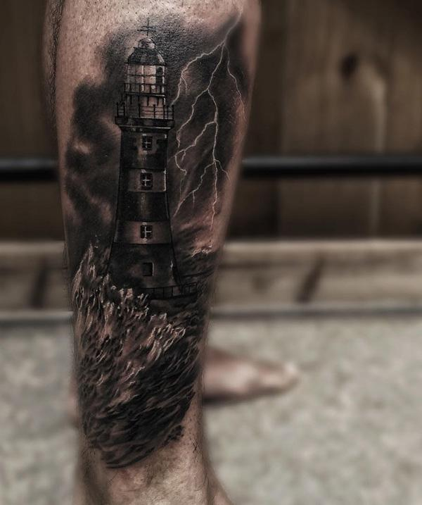 30+ Lighthouse Tattoo Ideas of 26 by Daniel