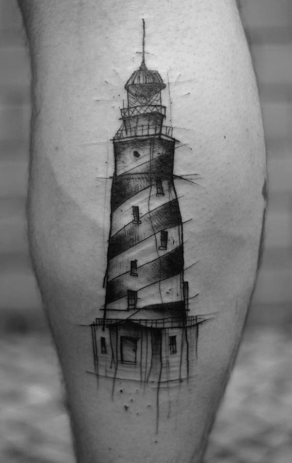 30+ Lighthouse Tattoo Ideas of 3 by Daniel