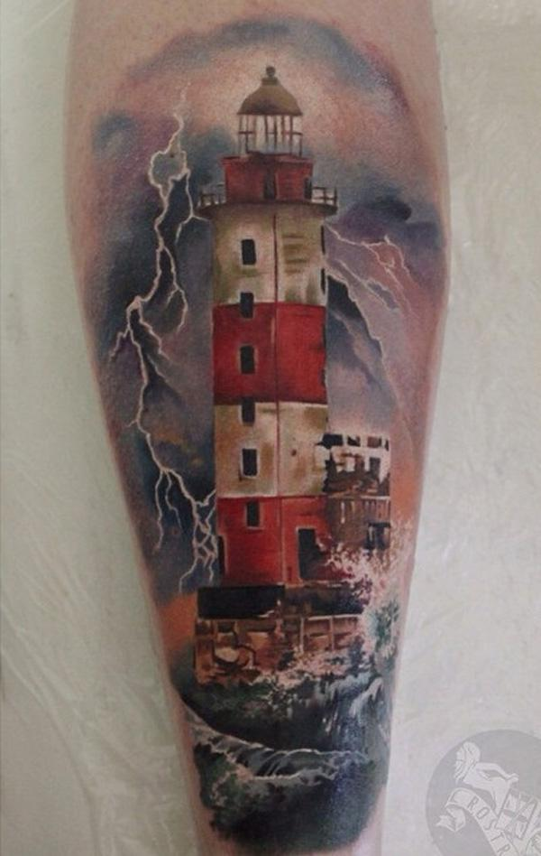 30+ Lighthouse Tattoo Ideas of 15 by Daniel