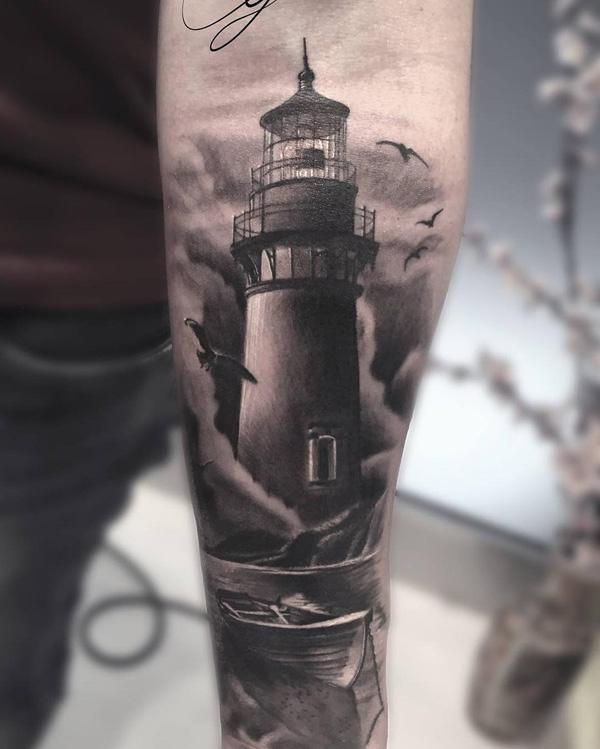 30+ Lighthouse Tattoo Ideas of 6 by Daniel