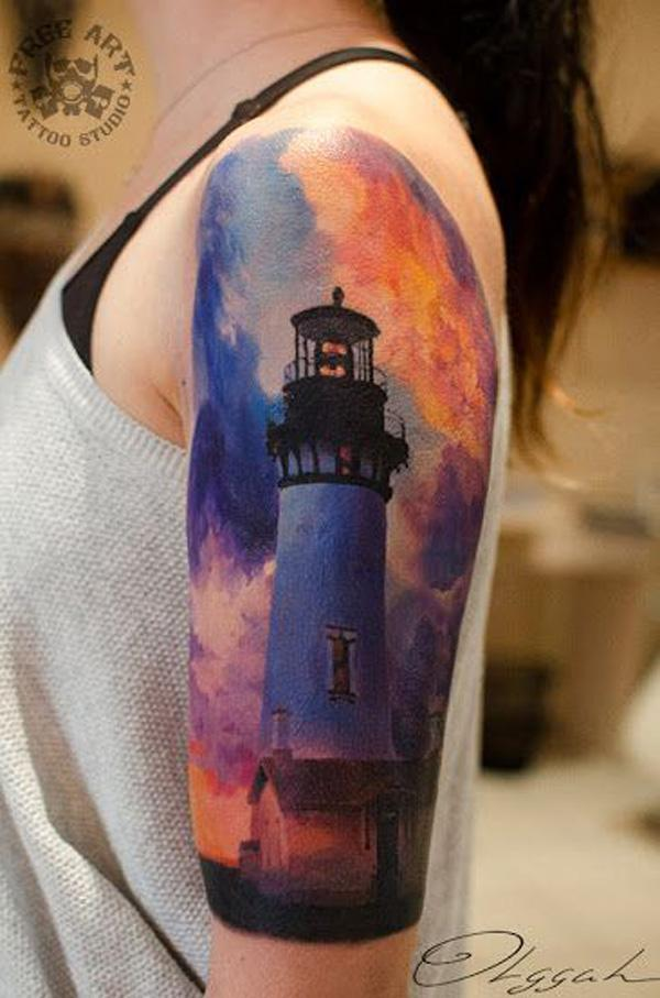 30+ Lighthouse Tattoo Ideas of 5 by Daniel