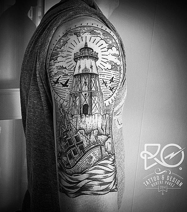30+ Lighthouse Tattoo Ideas of 16 by Daniel