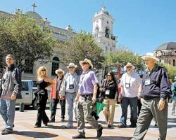 The number of tourists visiting Cuenca is booming.