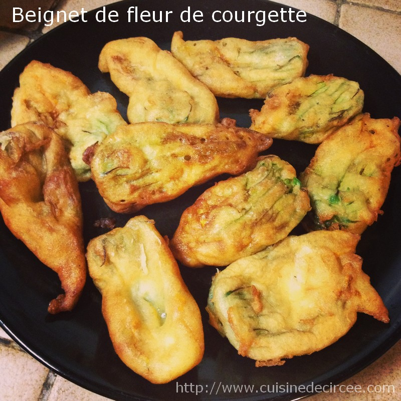 beignet de fleur de courgette la cuisine de circ e. Black Bedroom Furniture Sets. Home Design Ideas