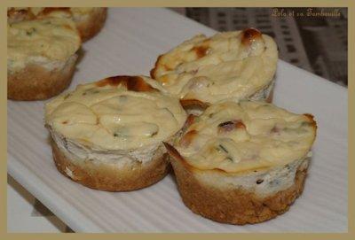 Mini cheesecakes aux dés de jambon (4)
