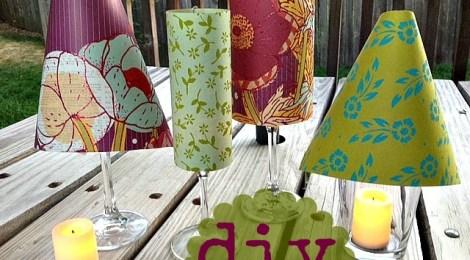 DIY Wine Glass Shades Centerpiece