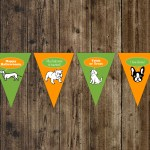 DIY Printable Halloweenie Invites, Cupcake Toppers & Banner