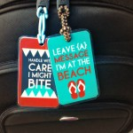 DIY Printable Beach Luggage Tags