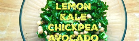 Easy Lemon Kale Chickpea Avocado Salad