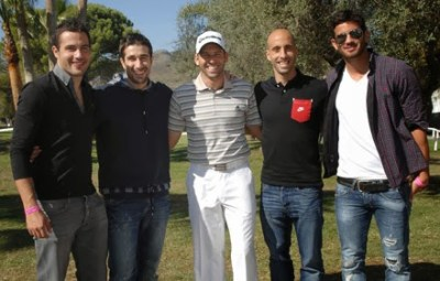 Cani, Bruno, Borja Valero y Musacchio despuntando el vicio del golf..