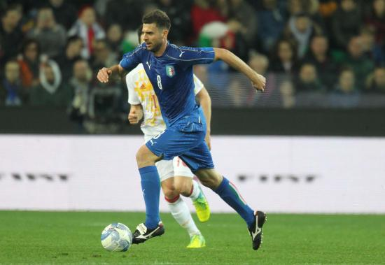 Italy's Thiago Motta in action during the friendly soccer match Italy vs Spain at the Friuli stadium in Udine, Italy, 24 March 2016. ANSA/LANCIA