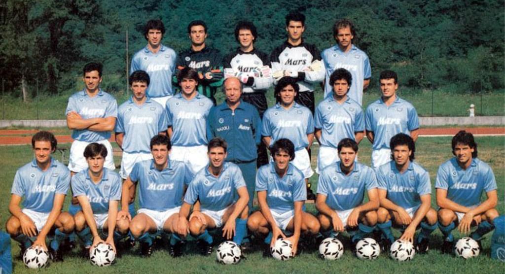 Plantilla del Nápoli para la temporada 1988-89