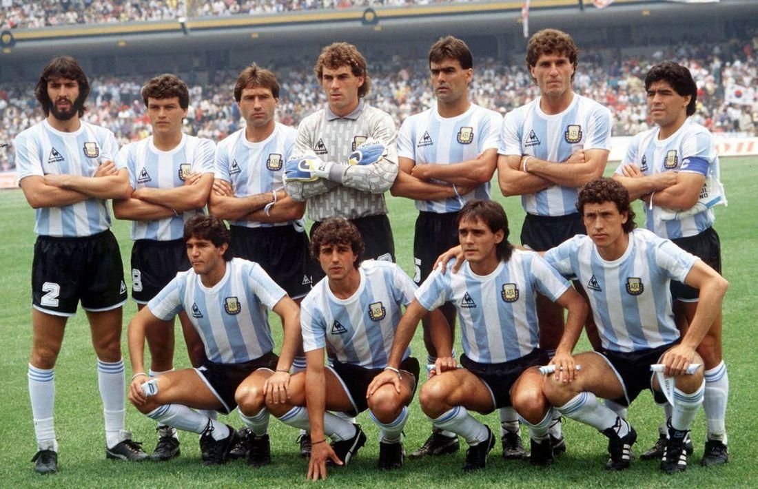 La recordada selección del '86