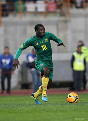 Vincent Aboubakar. Gol y buen futbol para Camerún