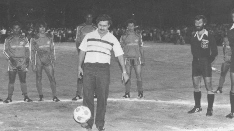 Pablo Escobar en plena campaña.